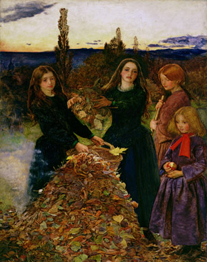 Autumn Leaves, 1856 (oil on canvas)